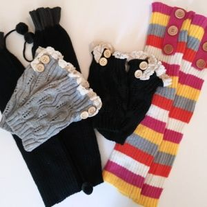 Accessories - NWOT lot of 4 pairs boot cuffs, 2 tall & 2 short